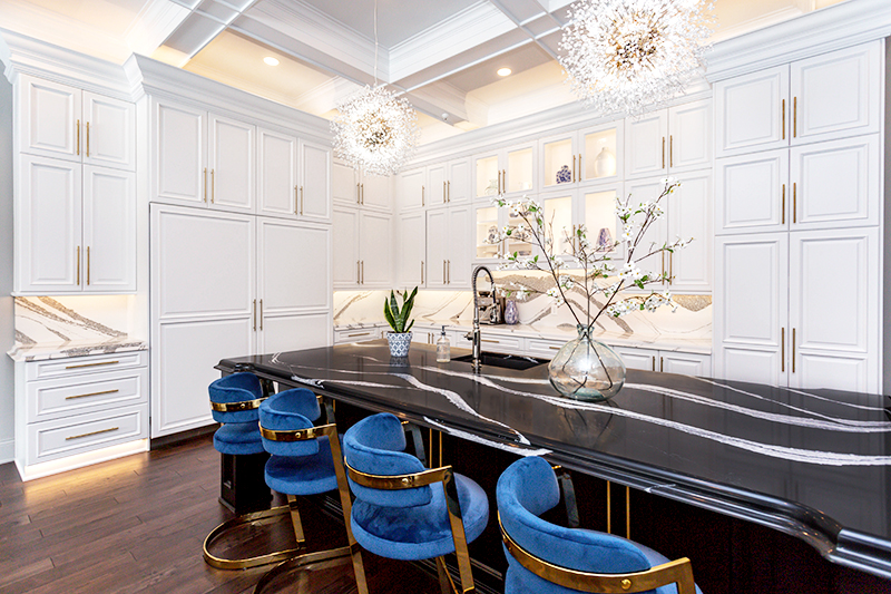 Glamorous Kitchen Featuring Mersey Countertops
