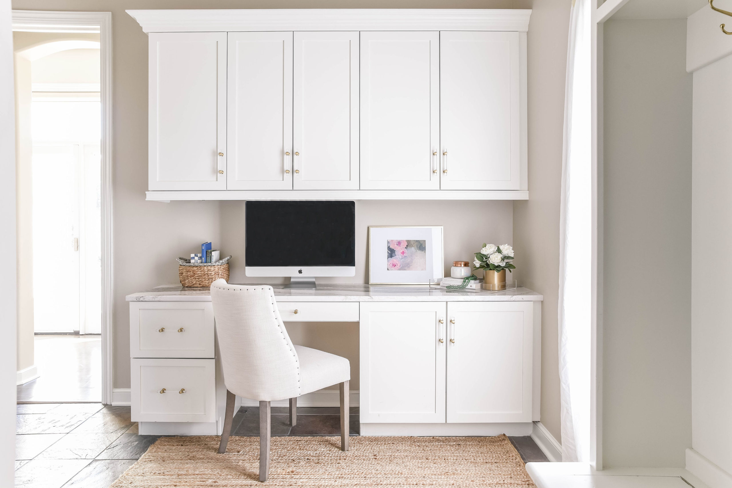 White Office Nook