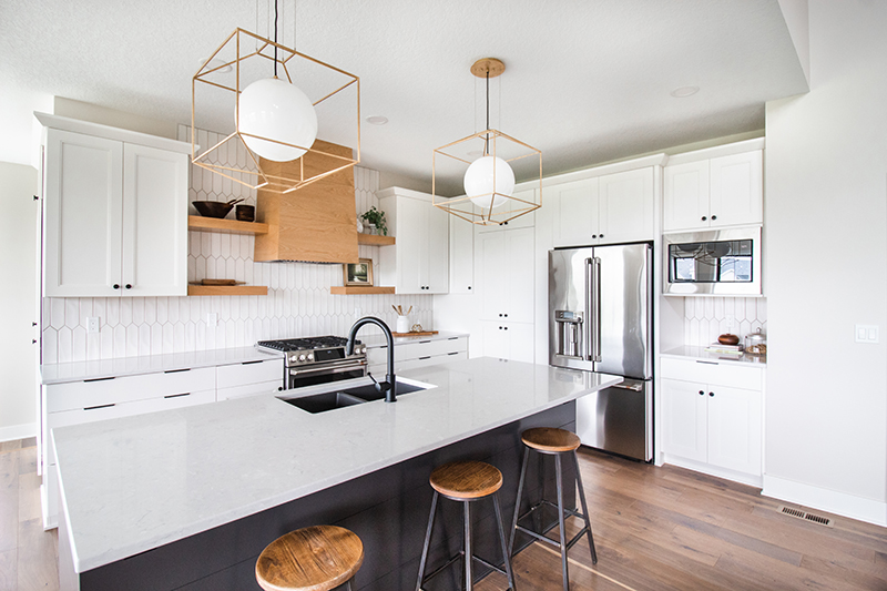 White Kitchen Featuring Weybourne Countertops