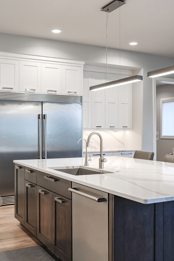 Modern Kitchen Featuring Cambria Countertops